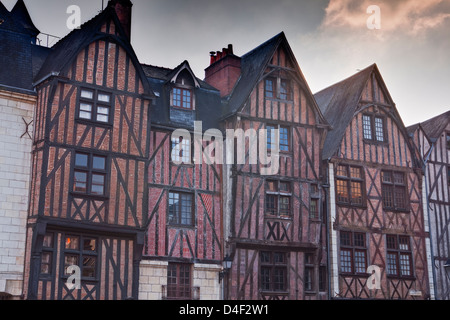 Vieux Tours or Old Tours in France. - Stock Photo