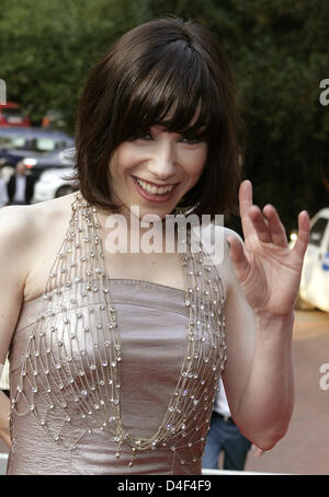 British actress Sally Hawkins poses during the party 'moving NRW' organised by North Rhine Westphalia's film foundation - Stock Photo