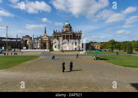 Potsdam, San Souci. New Palace, the western part. University of Potsdam. - Stock Photo