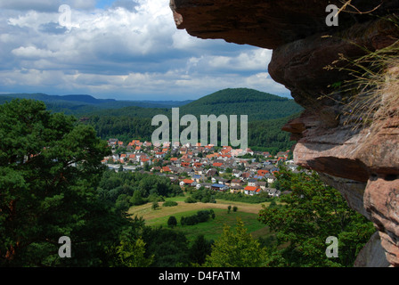 The village of Dahn in the Palatinate Forest, Germany - Stock Photo