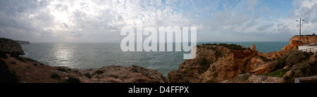 Algar Seco, Carvoeiro, panoramic view of the coast - Stock Photo