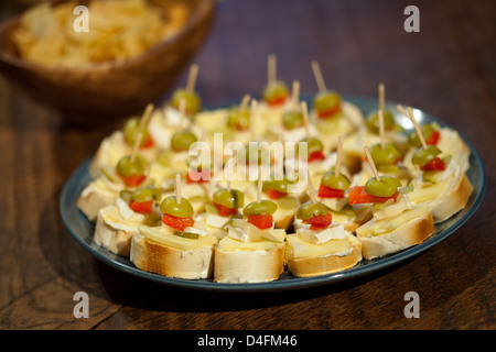 Canapes at party - Stock Photo
