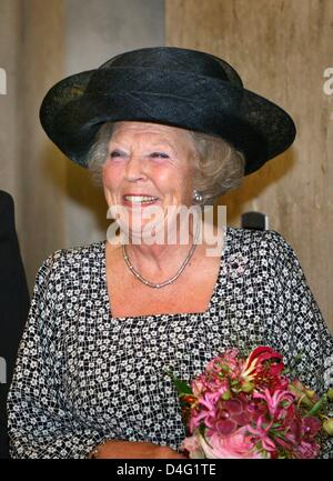 Queen Beatrix of the Netherlands attends the opening of the new building of the Conservatorium van Amsterdam (CvA) - Stock Photo
