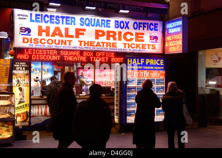 Discount Theatre Ticket booth at Leicester Square London UK - Stock Photo