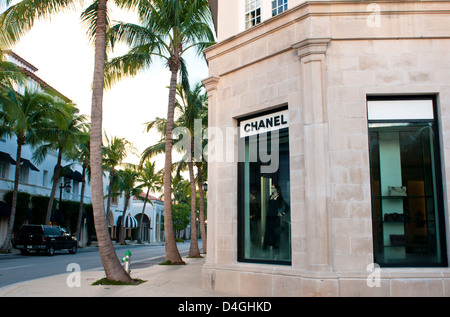 The Chanel store on Worth Avenue, West Palm Beach Florida - Stock Photo