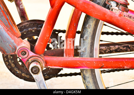 Old Bicycle chain - Stock Photo