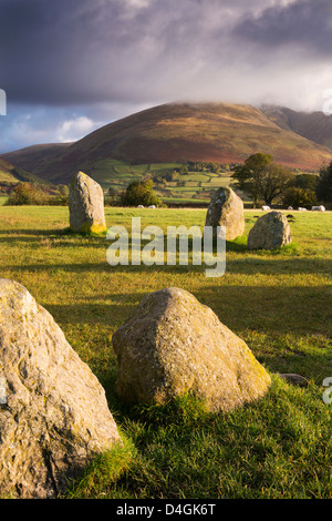 Castlerigg Stone Circle in the Lake District National Park, Cumbria, England. Autumn (October) 2012. - Stock Photo