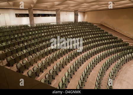 Empty theater seats - USA - Stock Photo