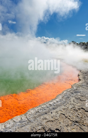 Champagne Pool, Waiotapu, Rotorua, North Island, New Zealand - Stock Photo