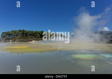 Waiotapu thermal area, Rotorua, North Island, New Zealand - Stock Photo