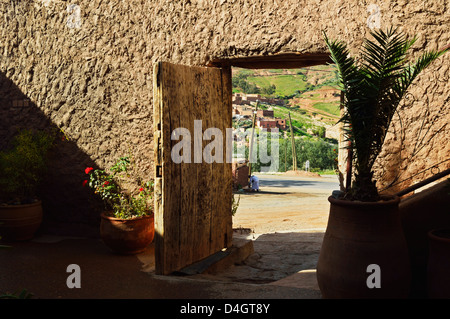 Doorway, near Tahnaout, High Atlas, Morocco, North Africa - Stock Photo