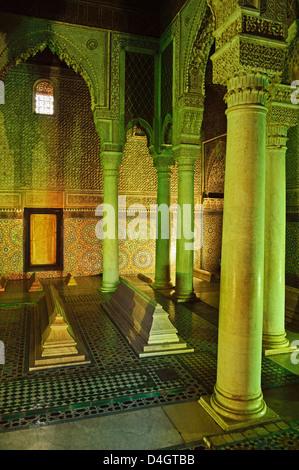 Saadian Tombs, Medina, Marrakesh, Morocco, North Africa - Stock Photo