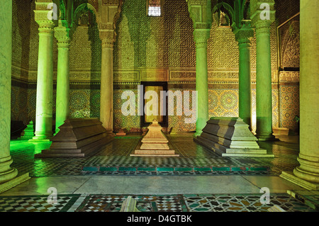 Saadian Tombs, Medina, Marrakesh, Morocco, North Africa - Stock Photo