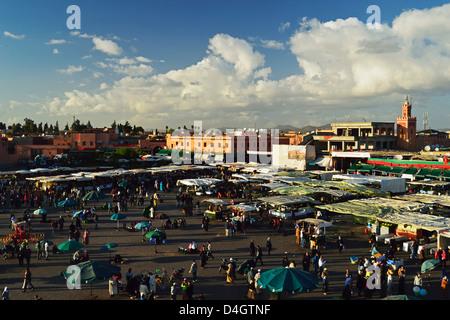 Jemaa El Fna, Medina, Marrakesh, Morocco, North Africa - Stock Photo