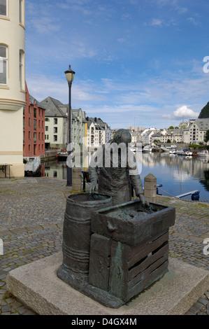 Alesund, More og Romsdal, Norway, Scandinavia - Stock Photo