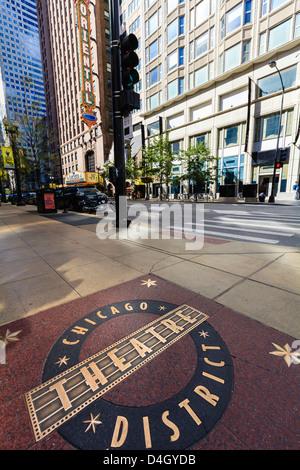 Theatre District, Chicago, Illinois, USA - Stock Photo