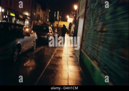Street, Brighton, Night, raining - Stock Photo