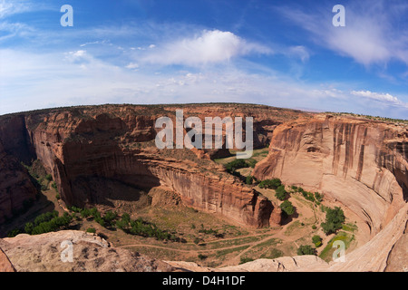 Divide between Canyon del Muerto & Black Rock Canyon, Antelope House Overlook, Canyon de Chelly National Monument, - Stock Photo