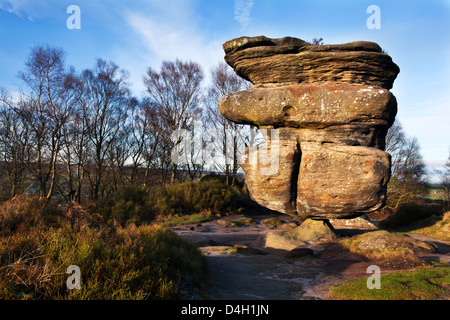 Idol Rock at Brimham Rocks near Summerbridge in Nidderdale, North Yorkshire, Yorkshire, England, UK - Stock Photo