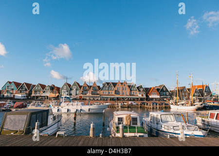 Volendam harbour, North Holland Province, The Netherlands (Holland) - Stock Photo