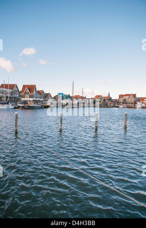 Volendam harbour, North Holland, The Netherlands (Holland) - Stock Photo