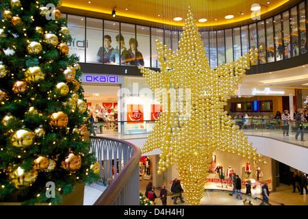 Thier Gallery, Shopping Centre at Christmas, Dortmund, North Rhine-Westphalia, Germany - Stock Photo