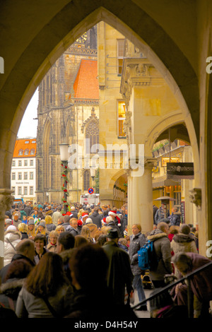 Prinzipalmarkt, Munster, North Rhine-Westphalia, Germany - Stock Photo