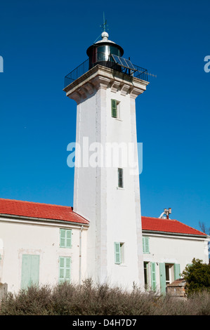 The Lighthouse Of La Gacholle,Natural Regional Nature Park Of Camargue, France - Stock Photo