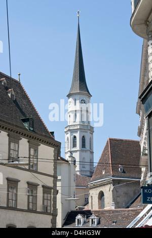 St Michael clock tower - Stock Photo