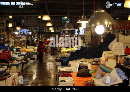 South Korea: Noryangjin Fisheries Wholesale Market, Seoul - Stock Photo