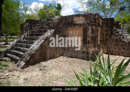 Small Venus Platform, Chichen Itza, Mexico - Stock Photo
