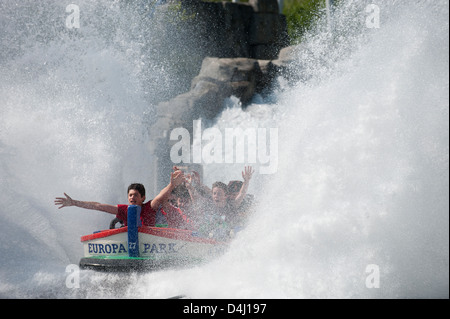Rusr, Germany, water roller coaster at Europa-Park Rust - Stock Photo
