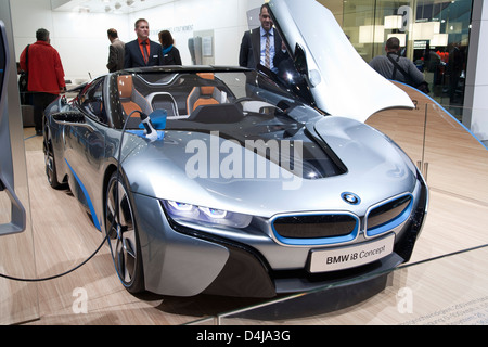 BMW i8 Concept Spyder. Geneva Motor Show 2013 - Stock Photo