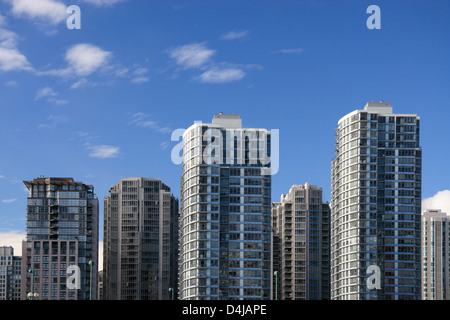 Apartment buildings in Downtown Vancouver. - Stock Photo