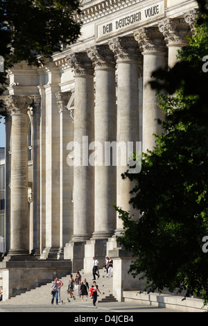 Berlin, Germany, site of the Reichstag at the Republic Square - Stock Photo