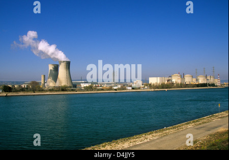 Nuclear power plant,  Tricastin, Drome, FRANCE - Stock Photo