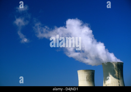Nuclear power plant. Tricastin. Drome. FRANCE - Stock Photo