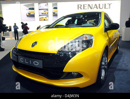 The new Renault Clio is pictured on the second press day of the 79th International Motor Show and Accessories on - Stock Photo