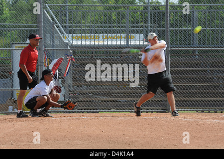 Softball for Soldiers - Stock Photo