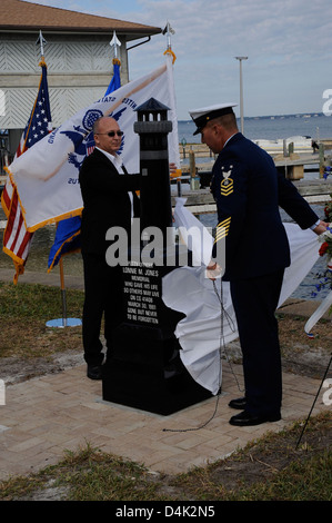 Petty Officer Lonnie Jones Memorial - Stock Photo
