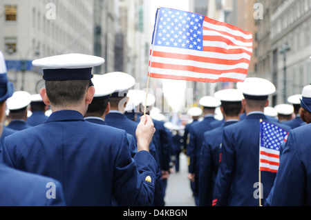 Sector New York marches down 5th Ave. - Stock Photo
