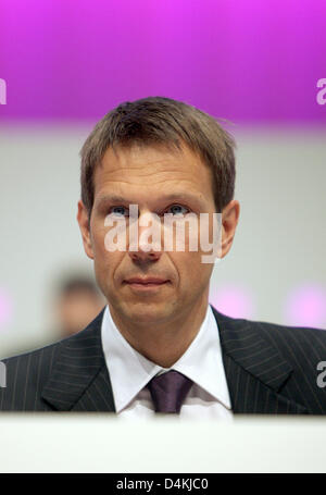 Telekom CEO Rene Obermann pictured prior to the Telekom general meeting in Cologne, Germany, 30 April 2009. Photo: - Stock Photo