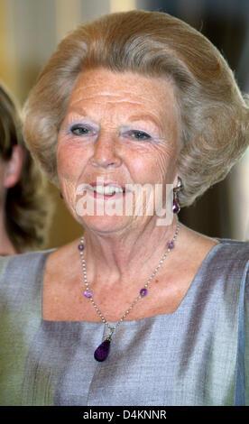 Dutch Queen Beatrix attends the ?Appeltjes van Oranje? award ceremony at Noordeinde Palace in The Hague, The Netherlands, - Stock Photo