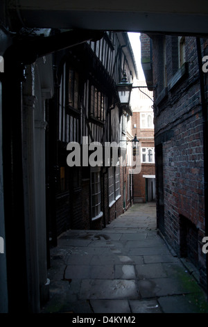 Timber framed buildings in Lady Peckett's Yard York, England UK - Stock Photo