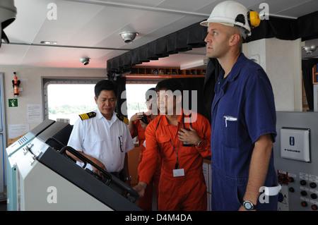 PSC inspection of motor vessel Union Anton - Stock Photo