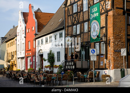 Wismar, Germany, the Brauhaus am Lohberg - Stock Photo