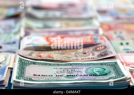 Berlin, Germany, notes on a stand at the World Money Fair - Stock Photo