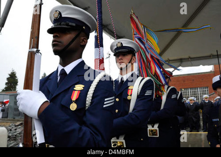 Stratton Commissioning Color Guard - Stock Photo