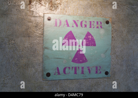 The first Radiation symbol - Stock Photo
