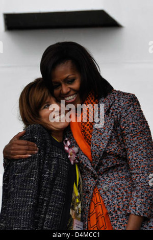 Michelle Obama at Stratton Commissioning - Stock Photo